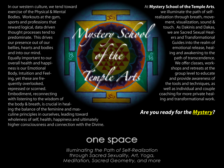 One Space Mystery School Of The Temple Arts